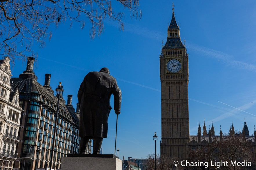 Winston Churchill & Big Ben, London, England