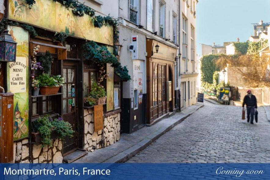 Montmartre, Paris, France photographs taken by Chasing Light Media