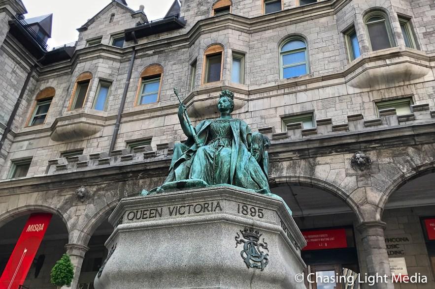 Queen Victoria statue, MISQA, Pollack Concert Hall, Montreal