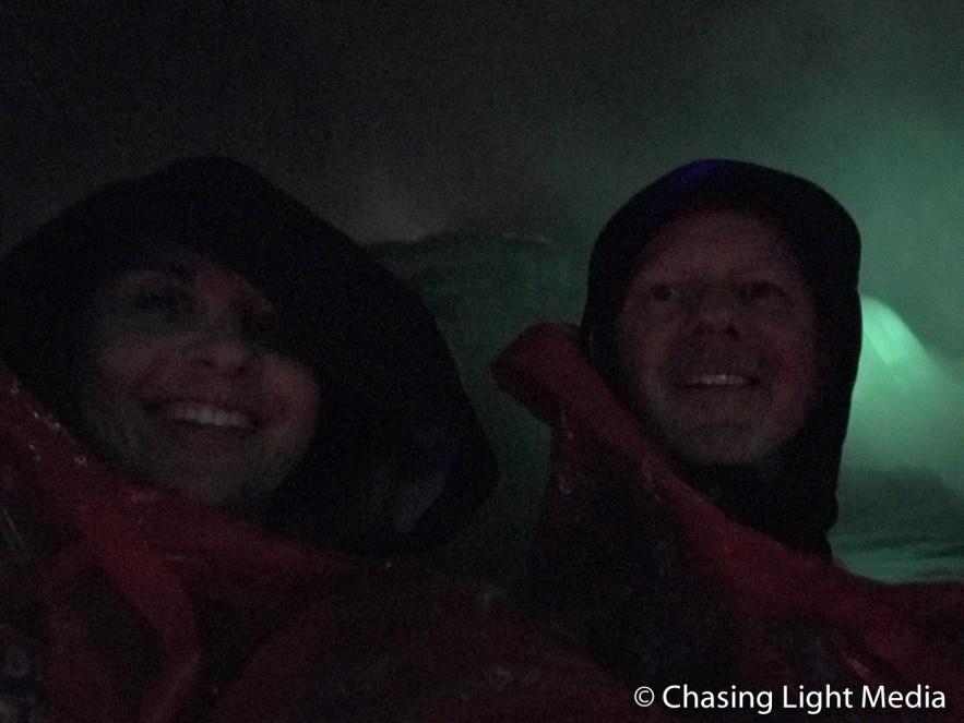 Aboard the Falls Illumination Cruise at Niagara Falls