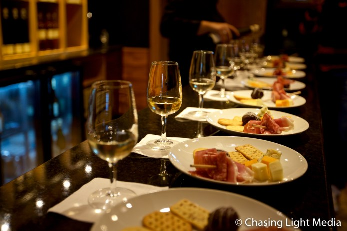 Cheese and wine tasting at Konzelmann Winery, Niagara-on-the-Lake