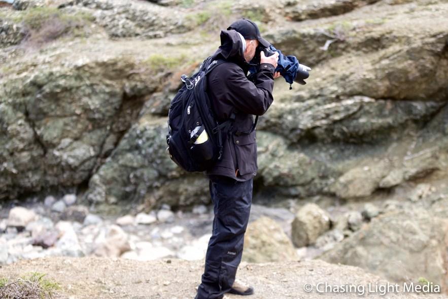 Greg Hull shooting on Isla San Benito, Mexico