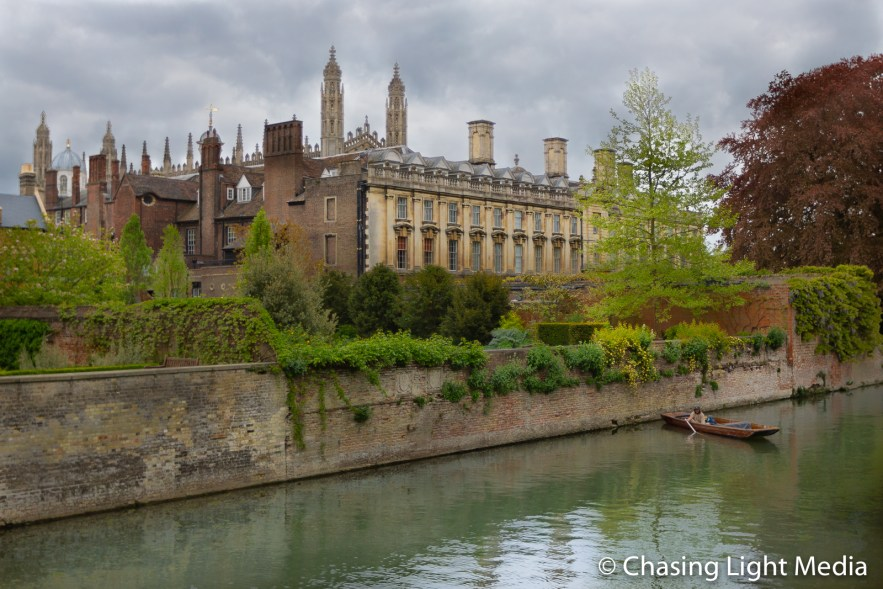 River Cam on a cloudy day in Cambridge, England