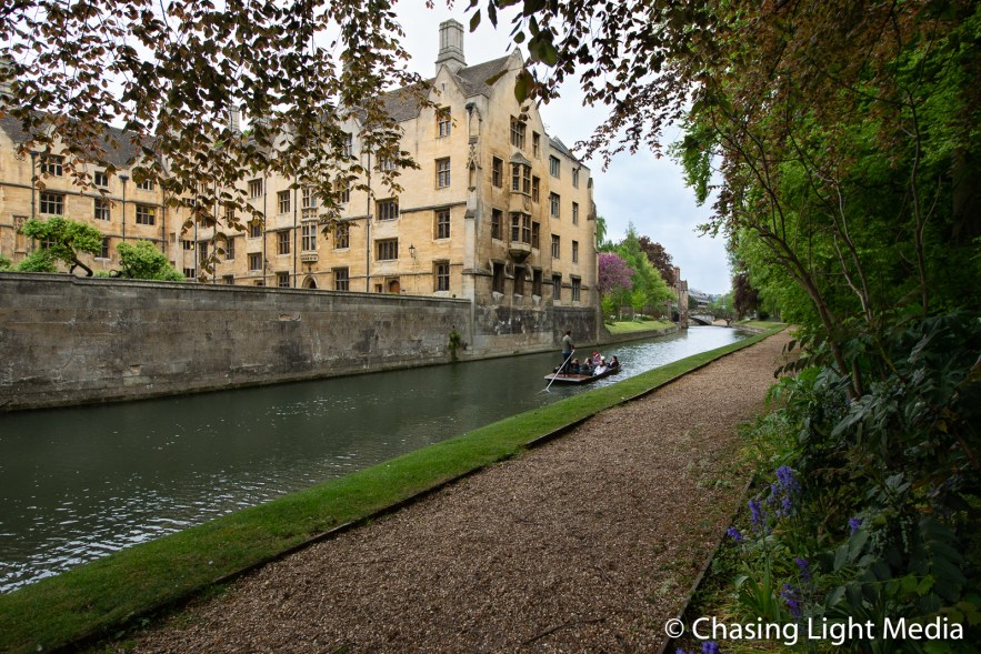 Guided punt tour in Cambridge, England