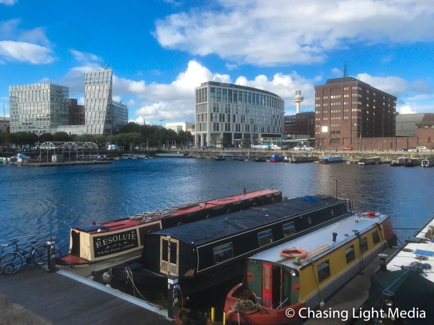 Boats on a sunny day in Liverpool, England. Photo: Kimberli Hull, Cool Adventures © Chasing Light Media