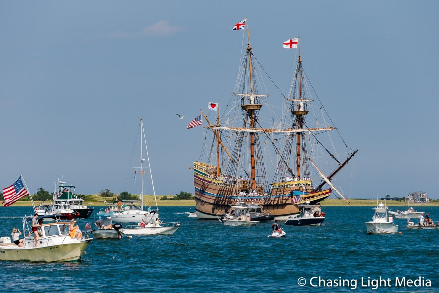 Mayflower II returns, Plymouth, Massachusetts