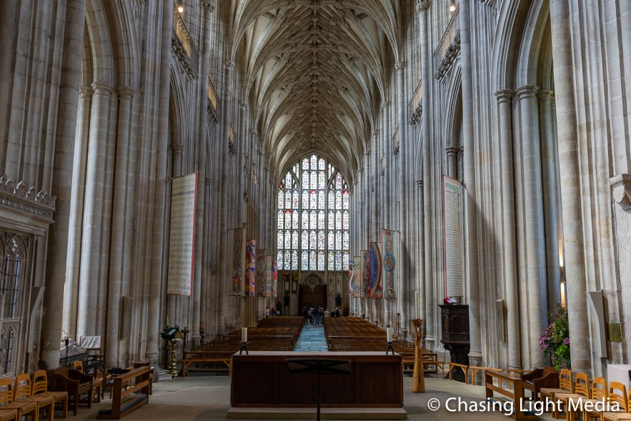 Winchester Cathedral interior, Winchester, England