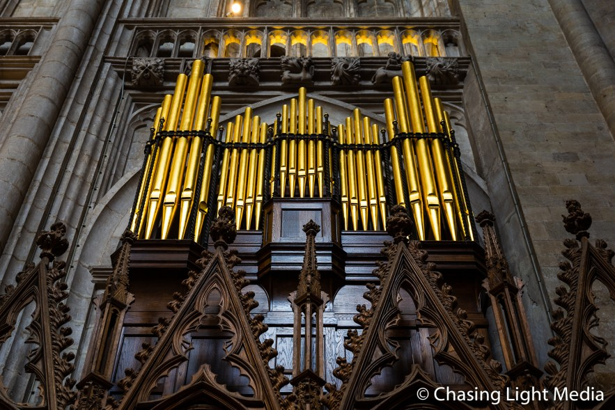 Organ pipes, Winchester Cathedral
