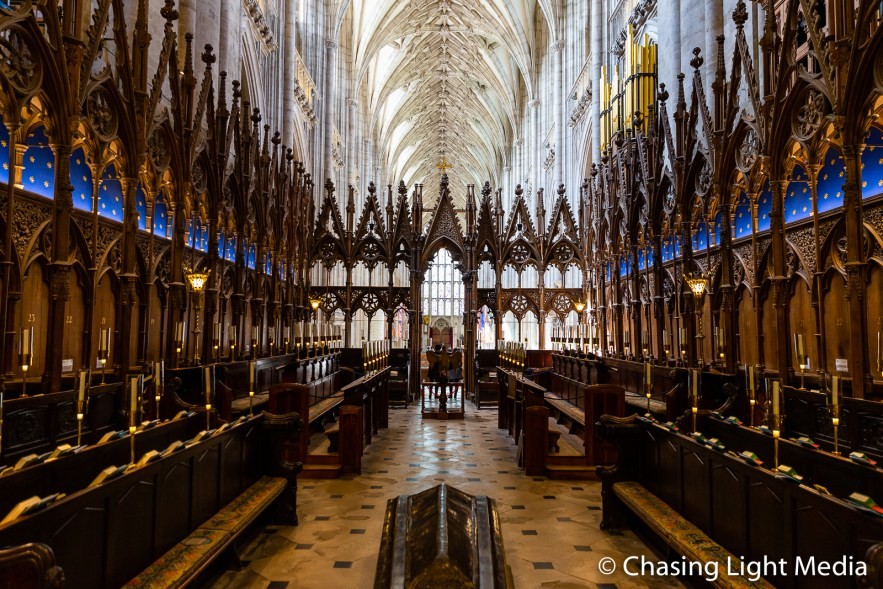 Choir stalls, Winchester Cathedral, Winchester, England