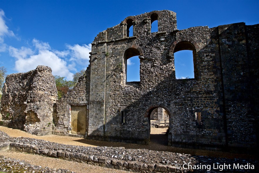 Remains of Wolvesey Castle, Winchester, England