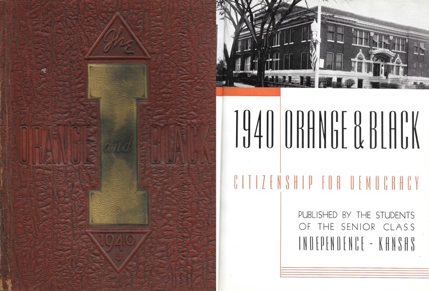 1940 Orange and Black, Citizenship for Democracy, Students of the Senior Class Independence, Kansas, 1940.
