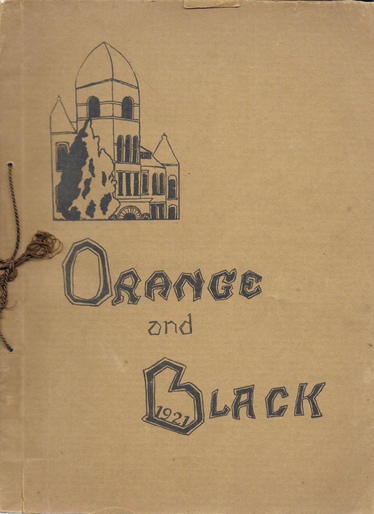 Orange and Black, 1921, Students of Independence, Kansas High School, 1921.