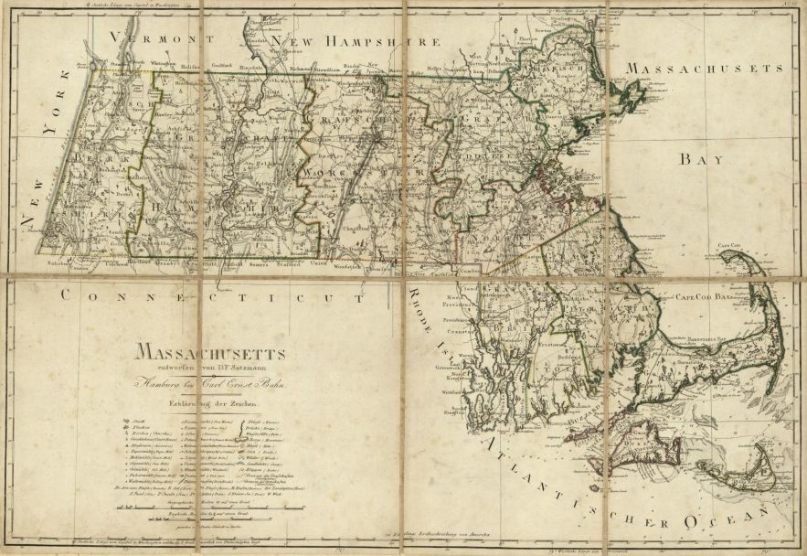 1796 Massachusetts map, Library of Congress, Geography and Map Division