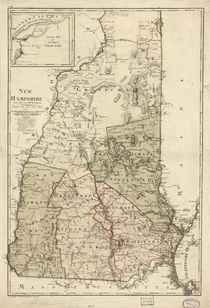 1796 New Hampshire map, Library of Congress, Geography and Map Division