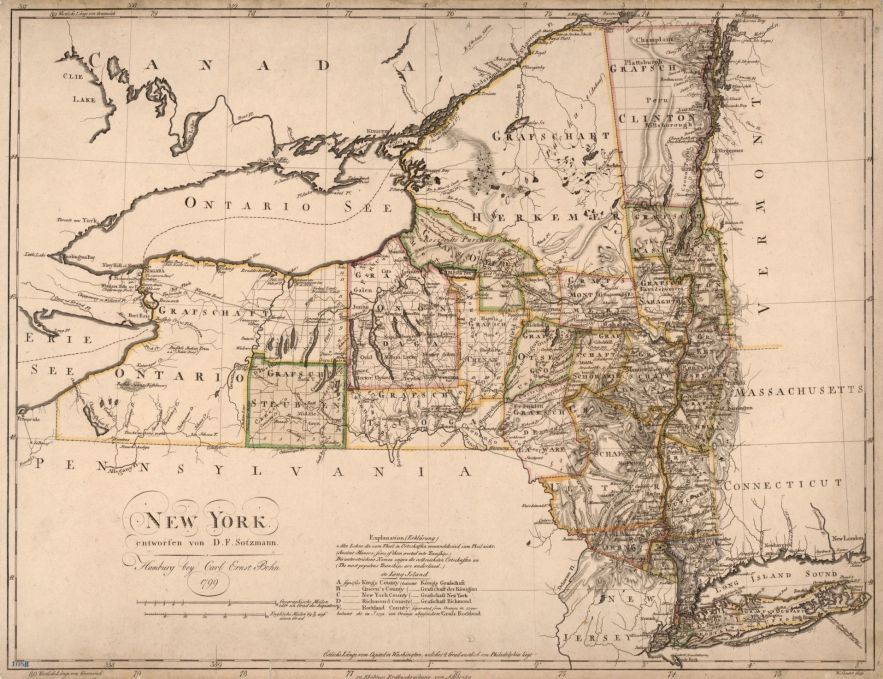 1799 New York map, Library of Congress, Geography and Map Division