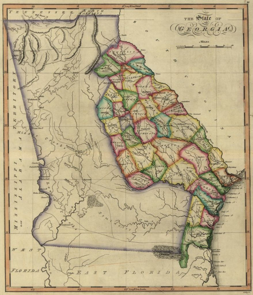 1817 Georgia map, Library of Congress, Geography and Map Division