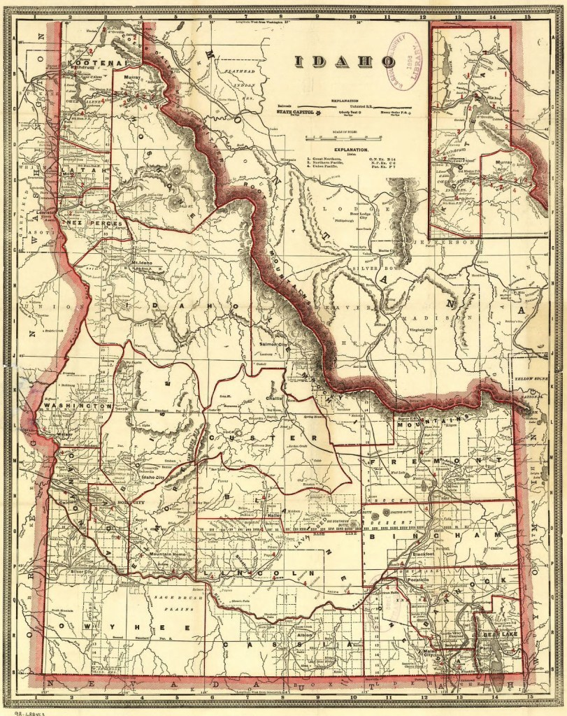 1896 Idaho map, Library of Congress, Geography and Map Division