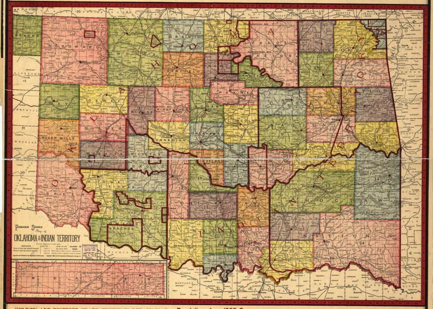 1905 Oklahoma map, Library of Congress, Geography and Map Division