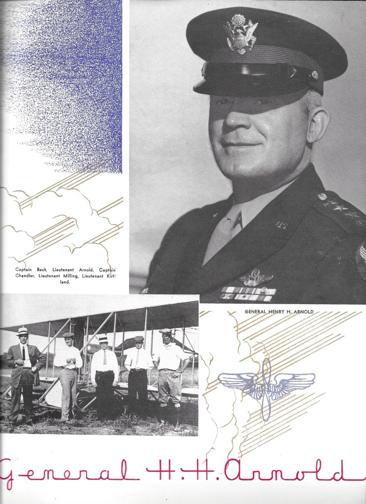 Independence Army Flying School 1943 Yearbook, Independence, Kansas, General H. H. Arnold letter