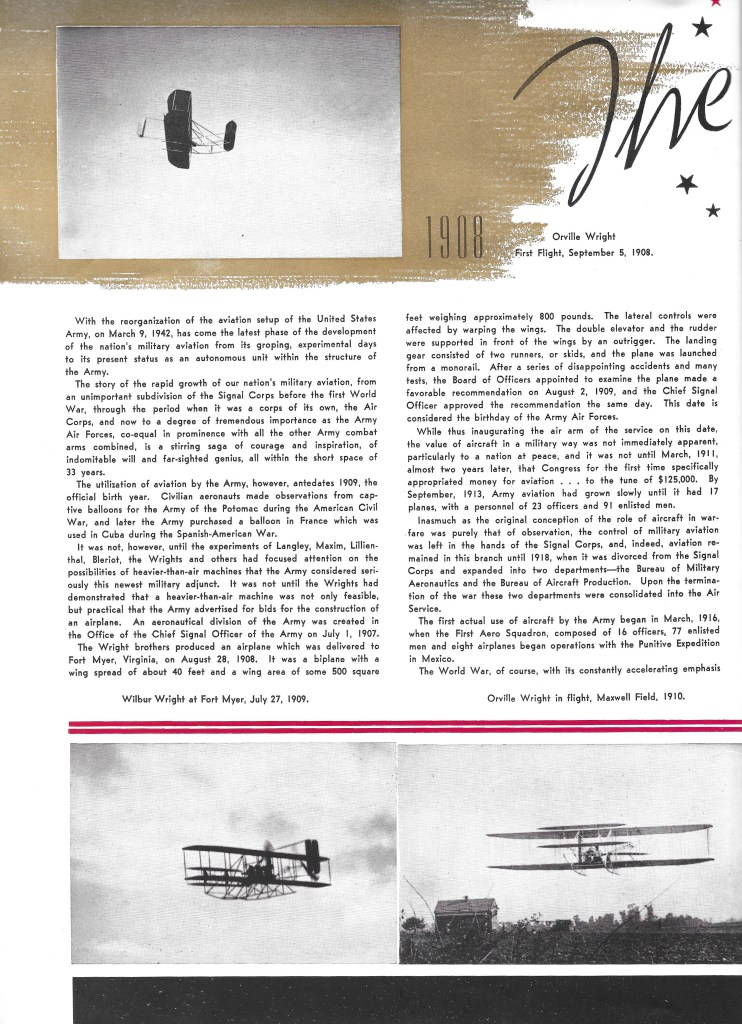 Independence Army Flying School 1943 Yearbook, The Development of the Army Air Forces