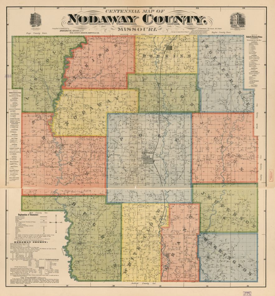 Centennial map of Nodaway County, Missouri, 1900