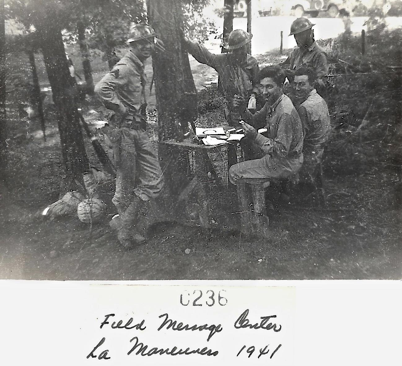 1941 Louisiana Maneuvers Field Message Center