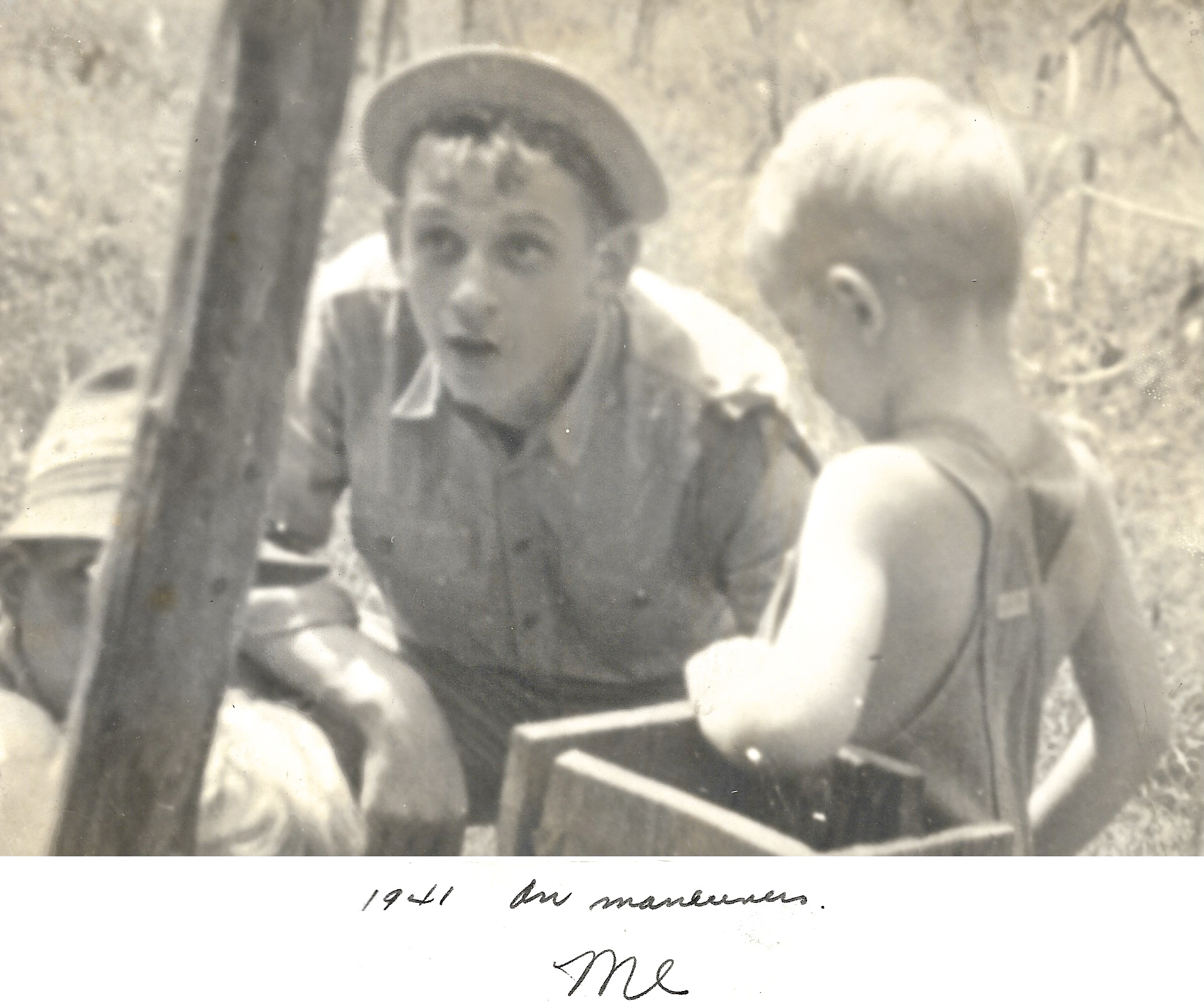 1941 WWII, Ernie Faulkner, Louisiana Maneuvers