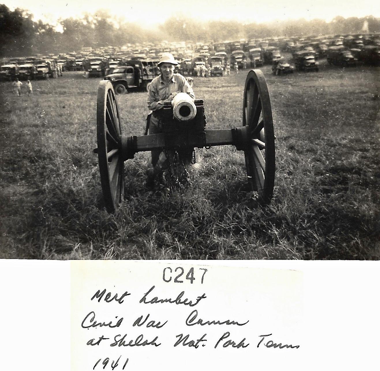 1941 Mert Lambert, Shiloh National Park, Tennessee