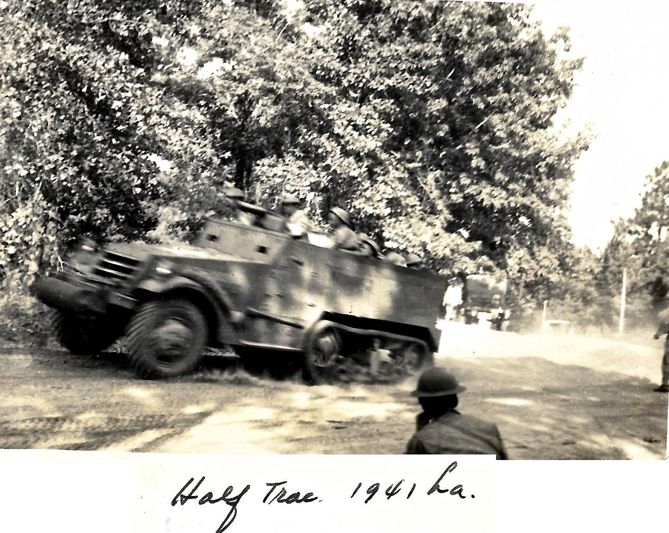 1941 WWII Louisiana Maneuvers, Half Trac