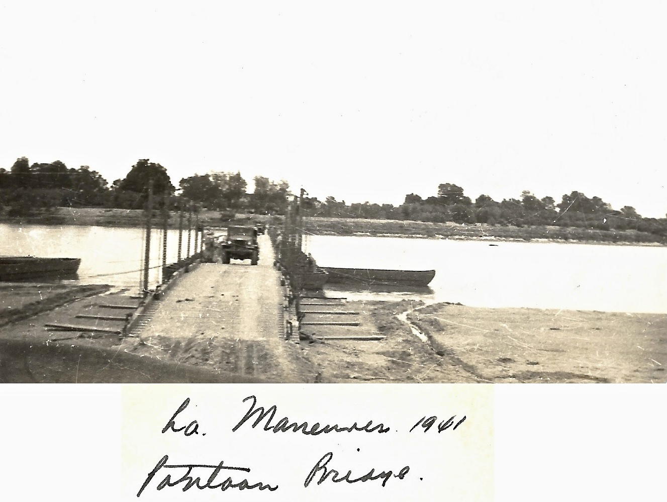 1941 Louisiana Maneuvers Pontoon Bridge