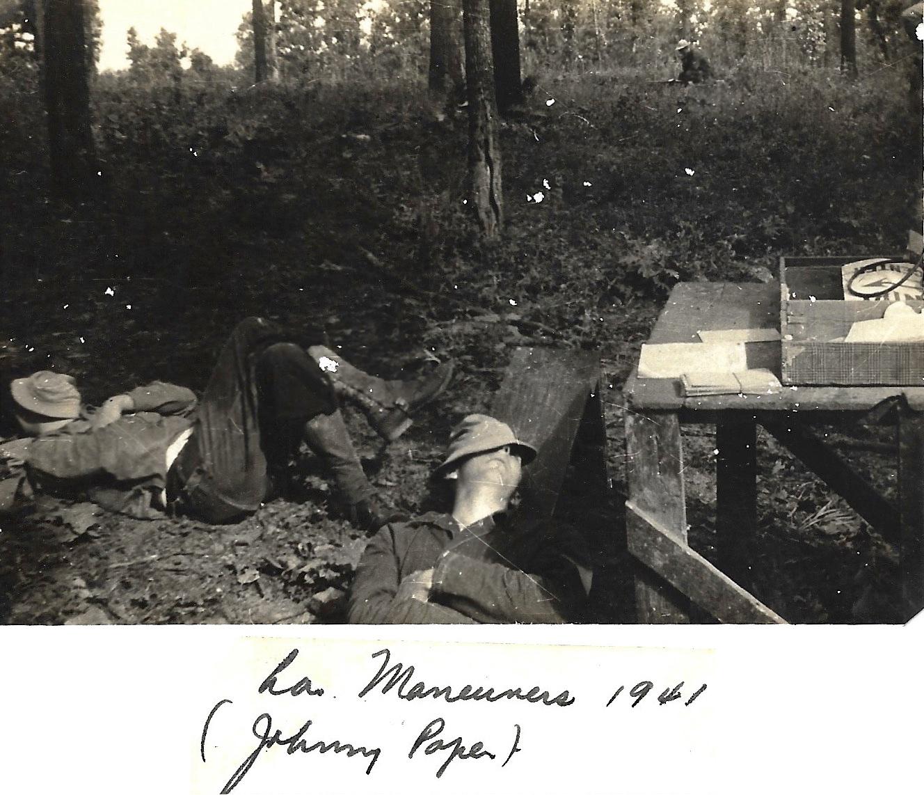 1941 WWII John Pope, Louisiana Maneuvers