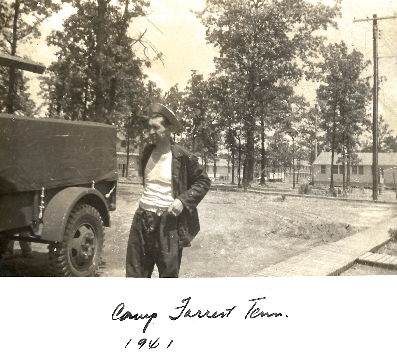 1941 WWII Unknown person. Camp Forrest, Tennessee