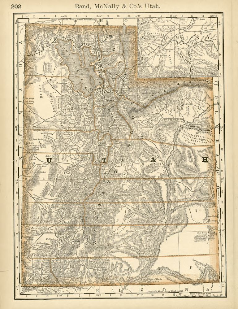 Utah map 1878-1879, Library of Congress, Geography and Map Division