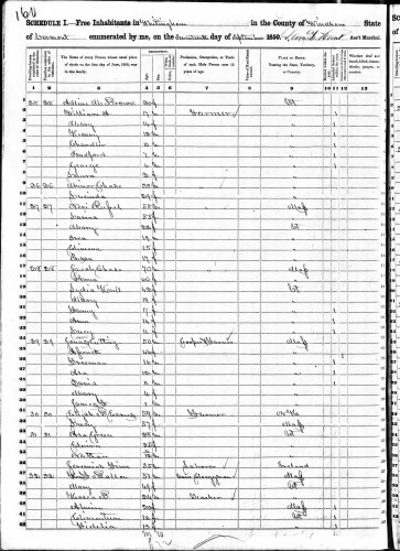 1850 U.S. census, Whitingham, Windham County, Vermont, population schedule, p. 160 (penned), dwelling 28, family 28, Jacob Chase household. Census page dated 17 Sept 1850.