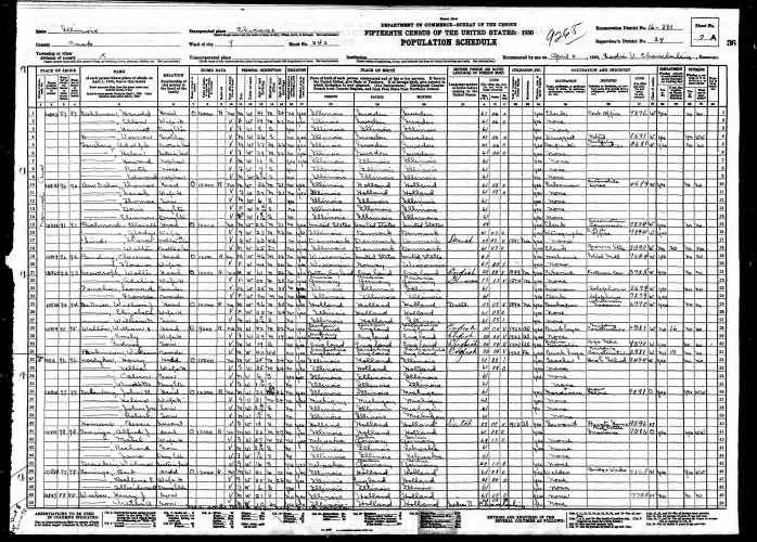 1930 U.S. census, Chicago, Cook County, Illinois, population schedule, enumeration district (ED) 16-381, sheet 7A (penned), p. 36 (stamped), dwelling 93, Walter Scowcroft household, Leonard and Frances Fancher boarders.