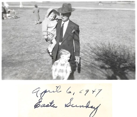W. W. Phillis with grandchildren, Bob and Karen Faulkner