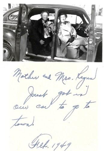 Myrtle Phillis and Mrs. Regan, Independence, 1949
