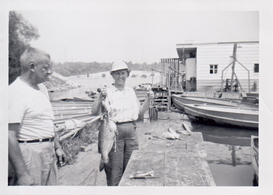 Eleanor and Hanley Baird fishing