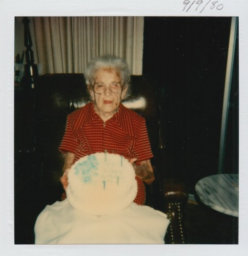 Myrtle Phillis' 94th birthday, 9 Sept 1980