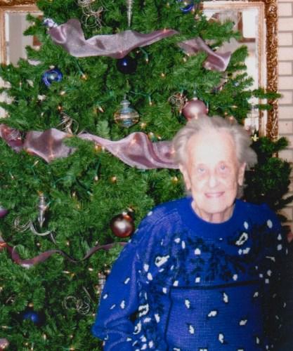 Eleanor Phillis Baird by Christmas tree, 2006