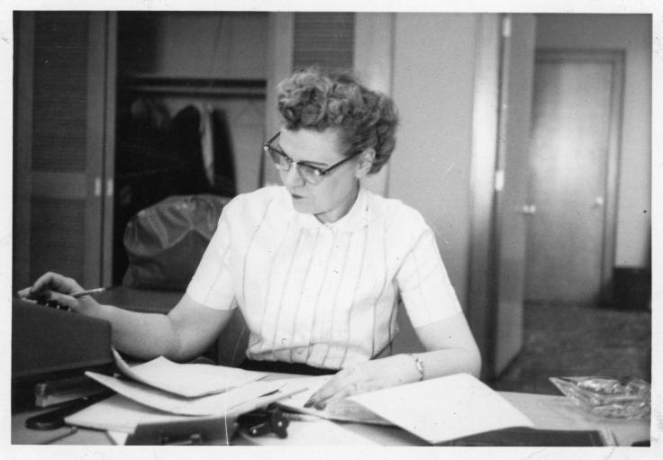 Hazel Bradshaw, ca. 1950s.