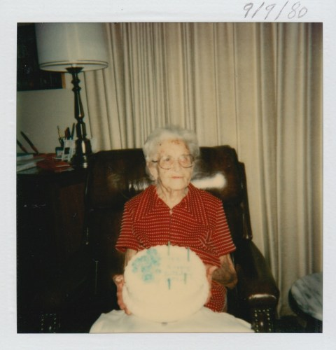 Myrtle Phillis' 94th birthday, 9 Sept 1980