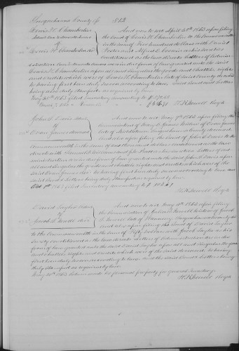 Susquehanna County, Pennsylvania, Wills and Administrations, vol. 2, p. 512, Jacob S. Newell, deceased, estate, 11 May 1863.