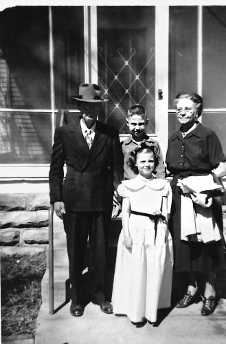 W. W. and Myrtle Phillis, Bob and Karen Faulkner, ca. 1953