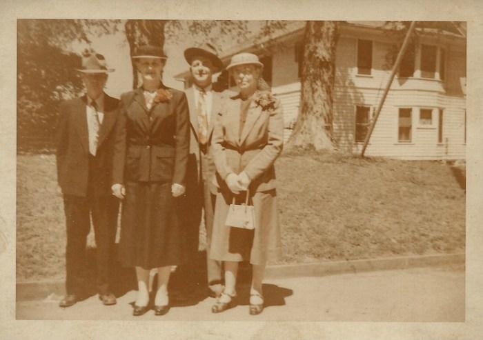 1952 WW Phillis, Eleanor Phillis Baird, Hanley Baird, Myrtle Hooper Phillis