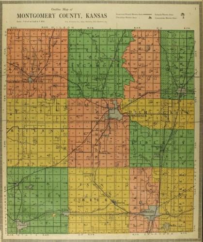Atlas and Plat Book of Montgomery County, Kansas (Independence, Kansas : H. J. Richmond, 1916), p. 1.