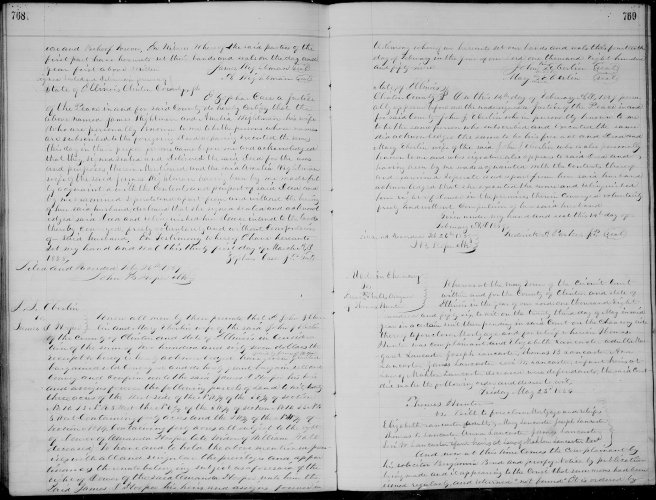 Clinton County, Illinois, Deed Record, vol. N, p. 768, John J. and Mary Eberlin to James D. Hooper, 14 Feb 1859.