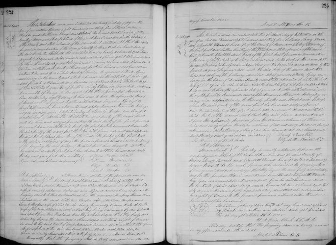 Macon County, Illinois, Deed Record, vol. A, p. 224, William and Catherine Hooper and Obediah and Sarah Hooper to Hildreth McCarty, 21 July 1835. 80 acres. Consideration $70.