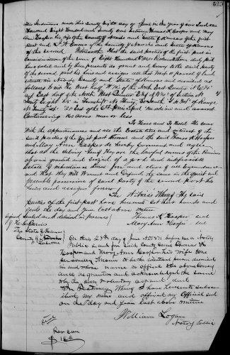 Neosho County, Kansas, Deed Records, vol. E, p. 529, Thomas K. and Mary Ann Hooper to J. W. Owens, 28 June 1871 Consideration $800.
