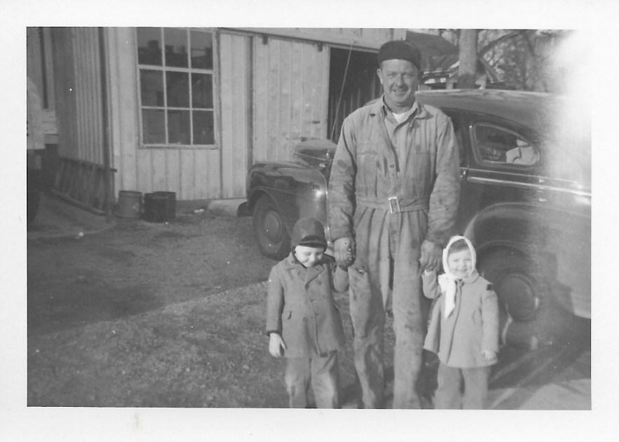 Hanley Baird and Bob and Karen Faulkner, ca. 1948